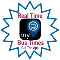 Real Time Bus Times GET THE APP - Link opens in a new window.