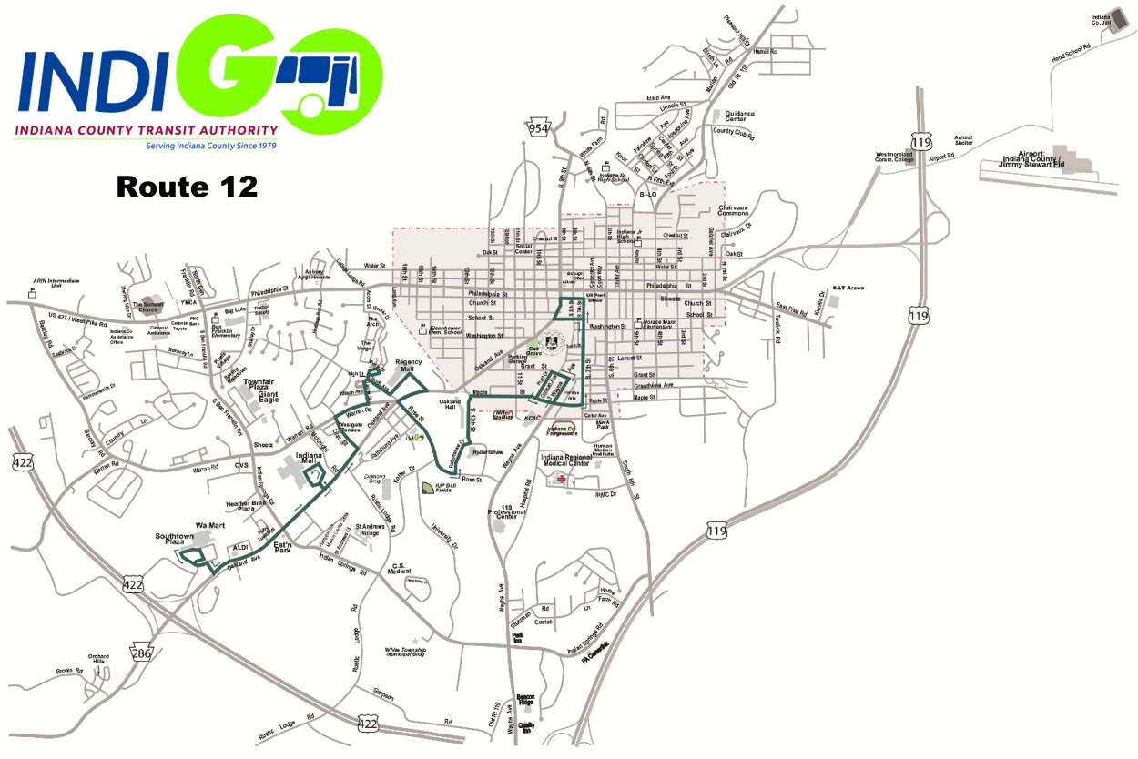 Map - Route 12 - Click on map to enlarge