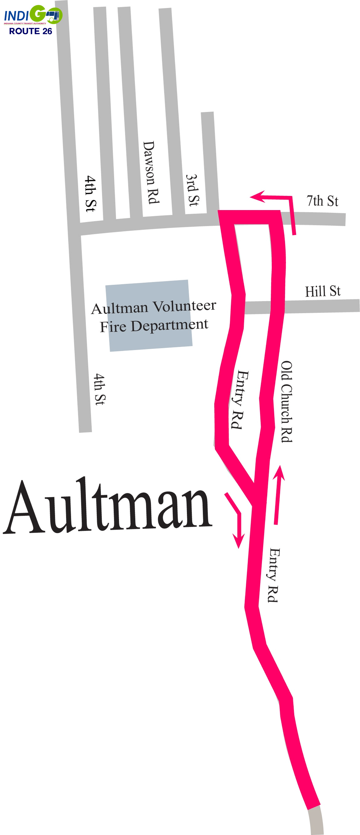 Map - Route 26 - Aultman Detail Map - Click on map to enlarge